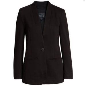 Madewell black blazer size 12